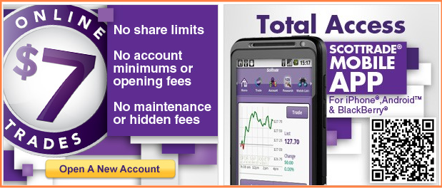 Scottrade - online $7 trades and total access